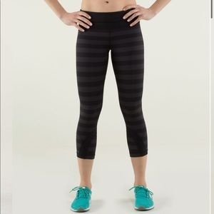 Lululemon Run: Inspire Crop II Micro Macro Stripe